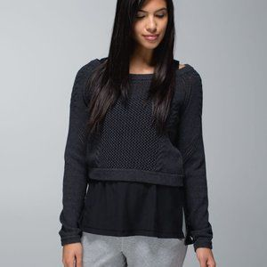 Lululemon be present knit cropped sweater